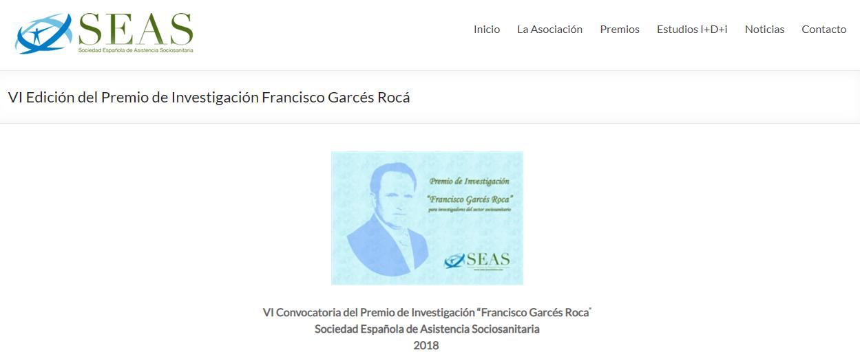 VI Premio de Investigación Francisco Garcés Roca